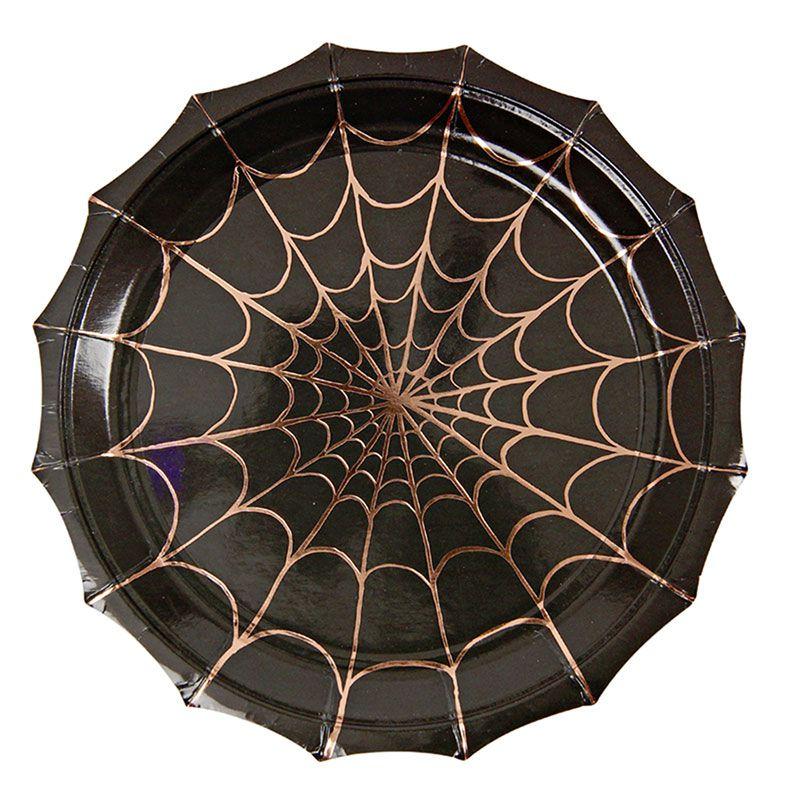 halloween teller gro schwarz. Black Bedroom Furniture Sets. Home Design Ideas