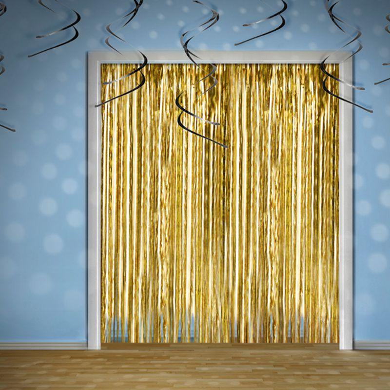 vorhang lametta gold. Black Bedroom Furniture Sets. Home Design Ideas